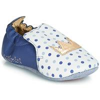 Schuhe Mädchen Hausschuhe Catimini CHIQUETTE Blau-weiss / Dpf / Souple