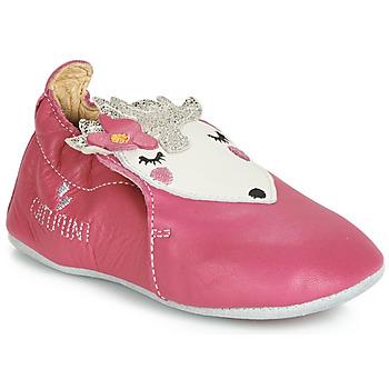 Schuhe Mädchen Babyschuhe Catimini HERISSETTE Vx / Rose / Dpf / Souple