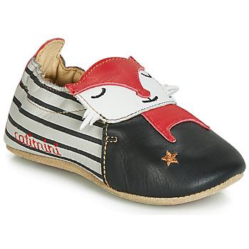 Schuhe Jungen Hausschuhe Catimini RENARDOU Schwarz / Grau / Rot