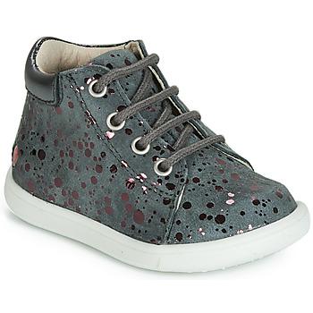 Schuhe Mädchen Sneaker High GBB NICKY Grau-gepunkt / Rose / Dpf / Messi