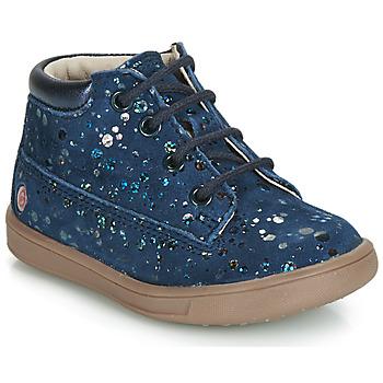 Schuhe Mädchen Sneaker High GBB NINON Marine-gepunkt / Dpf / Messi