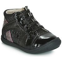 Schuhe Mädchen Sneaker High GBB ROSETTA Schwarz / Silbern