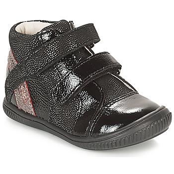 Schuhe Mädchen Sneaker High GBB ROXANE Schwarz / Silbern