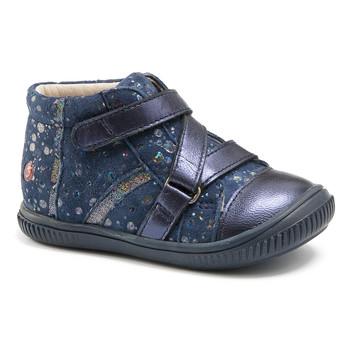 Schuhe Mädchen Sneaker High GBB NICOLETA Marine-gepunkt / Dpf / Franca