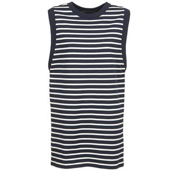 Kleidung Damen Kurze Kleider Petit Bateau MARBRE Marine / Naturfarben