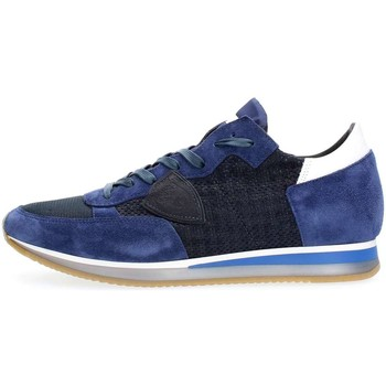 Schuhe Herren Sneaker Low Philippe Model Paris TRLU PS44 TROPEZ PERFORE SNEAKERS Herren Blu Blu