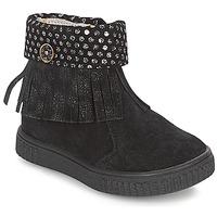 Schuhe Mädchen Boots Catimini PERETTE Schwarz / Silbern