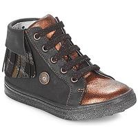 Schuhe Mädchen Sneaker High Catimini LOULOU Schwarz / Kupfer