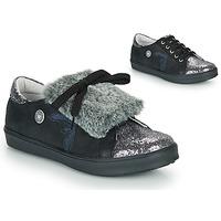 Schuhe Mädchen Sneaker Low Catimini MARGOTTE Schwarz / Silbern