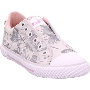 Schuhe Sneaker Low S.Oliver Ki.-Slipper GREY FLOWER 204