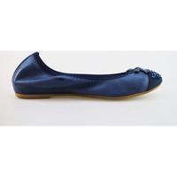 Schuhe Damen Ballerinas Cruz schuhe damen  ballerinas blau leder wildleder AG314 blau