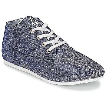 Schuhe Damen Sneaker Low Eleven Paris BASGLITTER Silbern