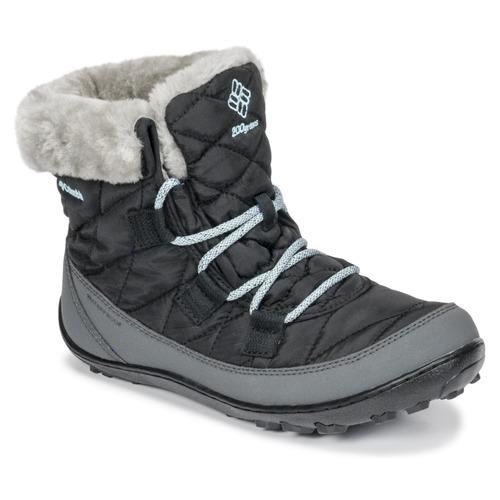 Schuhe Kinder Schneestiefel Columbia YOUTH MINX SHORTY OMNI-HEAT™ WATERPROOF Schwarz