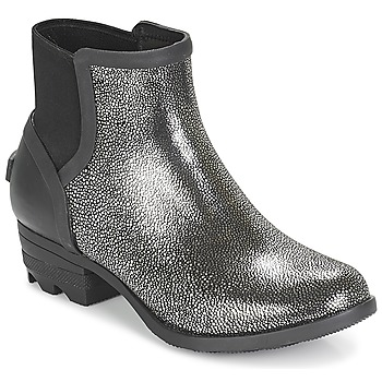Schuhe Damen Boots Sorel JANEY™ CHELSEA Schwarz / Silbern