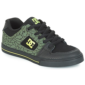 Schuhe Kinder Sneaker Low DC Shoes PURE SE B SHOE BK9 Schwarz / Grün