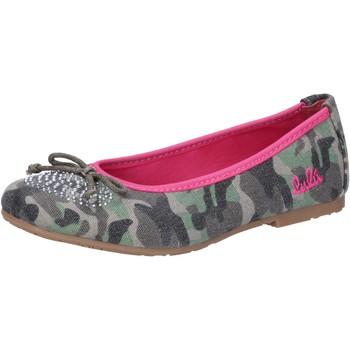 Schuhe Mädchen Ballerinas Lulu ballerinas grün segeltuch AG640 grün