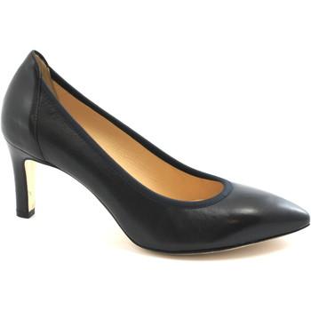 Schuhe Damen Pumps Melluso D078E Nacht Frau dcollet Lederstretch spitze Schuhe Blu