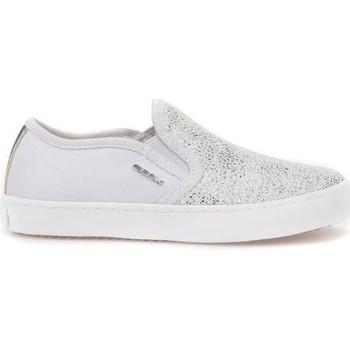 Schuhe Kinder Slip on Geox JR Kilwi Girl Weiß,Silber