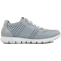 Schuhe Damen Sneaker Slowwalk Sport 10502W blau met