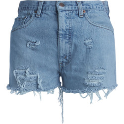 "Kleidung Damen Shorts / Bermudas Chiara Ferragni Chiara Ferragni Short ""I'm over"" in Denim Blue"