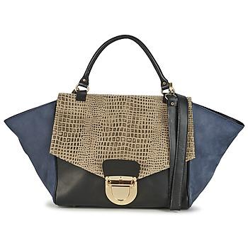 Taschen Damen Handtasche Su-Shi MILA CROCO Blau / Schwarz