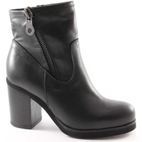 Schuhe Damen Low Boots Jhon Grace 1732X2 schwarze Schuhe Frau Stiefeletten Doppel-Reißverschluss Nero