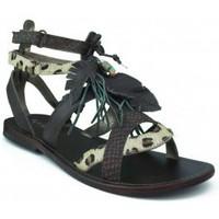 Schuhe Mädchen Sandalen / Sandaletten Oca Loca OCA LOCA Mädchen Sandale weißen Steinen BRAUN