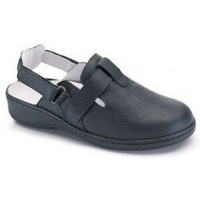 Schuhe Damen Pantoffel Calzamedi verstopfen komfortablen Doppelklett SCHWARZ