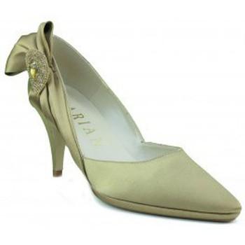 Schuhe Damen Pumps Marian Partei Satinschuh Frau GOLDEN