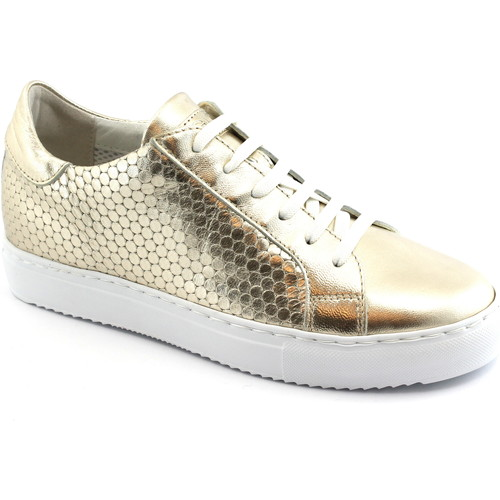 Grunland GRÜNLAND GI HOAN Schuhe SC3853 Platin Gold Sneaker Schnürsenkel Oro