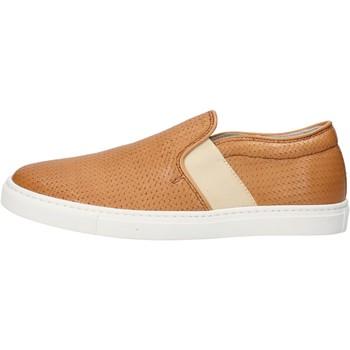 Schuhe Damen Slip on K852 & Son slip on hellbraun leder AG953 braun