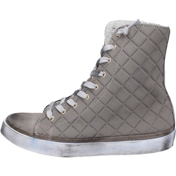 Schuhe Damen Sneaker High 2 Stars sneakers beige textil wildleder AC17 beige