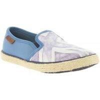 Schuhe Kinder Leinen-Pantoletten mit gefloch Pepe jeans PBS10078 FRANK Azul