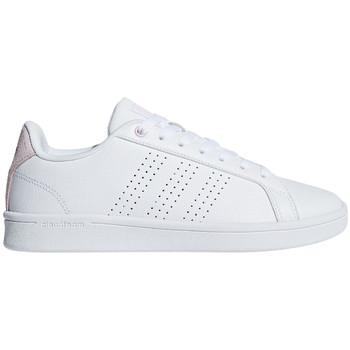 Schuhe Damen Sneaker Low adidas Originals Cloudfoam Advantage Clean Premium Women Weiss