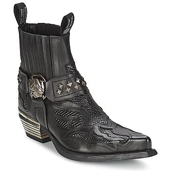 Schuhe Damen Boots New Rock PRETO Schwarz