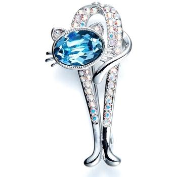 Uhren & Schmuck Damen Broschen / Anstecker Blue Pearls CRY E512 J Blau