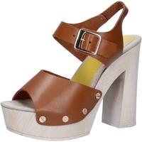 Schuhe Damen Sandalen / Sandaletten Suky Brand sandalen braun leder AC482 braun