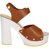 Schuhe Damen Sandalen / Sandaletten Suky Brand sandalen braun leder AC483 braun