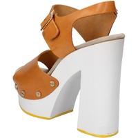 Schuhe Damen Sandalen / Sandaletten Suky Brand sandalen braun leder AC485 braun