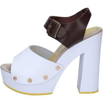 Schuhe Damen Sandalen / Sandaletten Suky Brand sandalen braun leder weiß AC486 braun