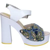 Schuhe Damen Sandalen / Sandaletten Suky Brand sandalen weiß textil blau lack AC487 weiß