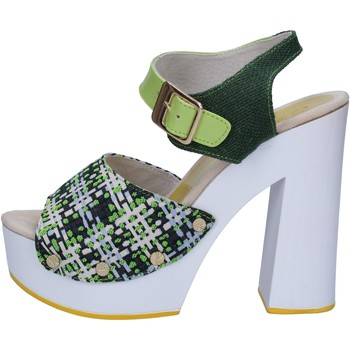 Schuhe Damen Sandalen / Sandaletten Suky Brand sandalen grün textil lack AC489 grün