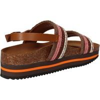 Schuhe Damen Sandalen / Sandaletten 5 Pro Ject sandalen pink textil braun AC592 pink
