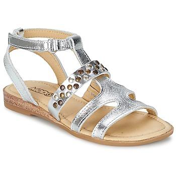Schuhe Mädchen Sandalen / Sandaletten Mod'8 JADE Silbern