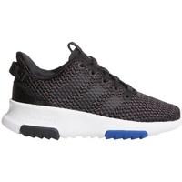 Schuhe Kinder Sneaker Low adidas Originals CF Racer TR K Weiß-Schwarz