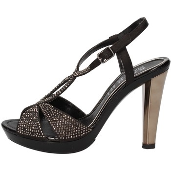 Schuhe Damen Sandalen / Sandaletten Phil Gatiér sandalen schwarz satin strass AC791 schwarz