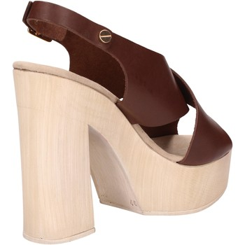 Schuhe Damen Sandalen / Sandaletten Suky Brand sandalen braun leder AC799 braun