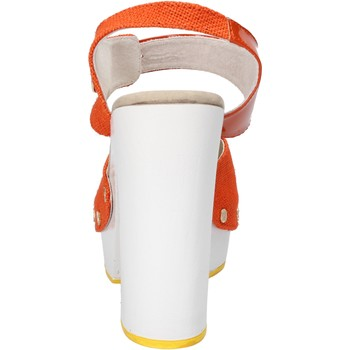 Schuhe Damen Sandalen / Sandaletten Suky Brand sandalen orange textil lack AC802 orange