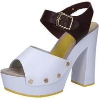 Schuhe Damen Sandalen / Sandaletten Suky Brand sandalen weiß leder braun AC809 mehrfarben