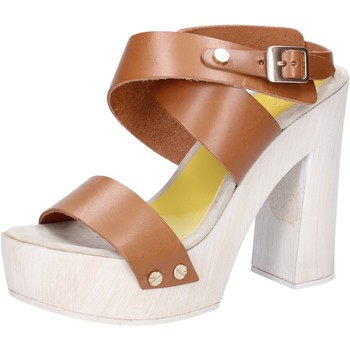 Schuhe Damen Sandalen / Sandaletten Suky Brand sandalen braun leder AC816 braun